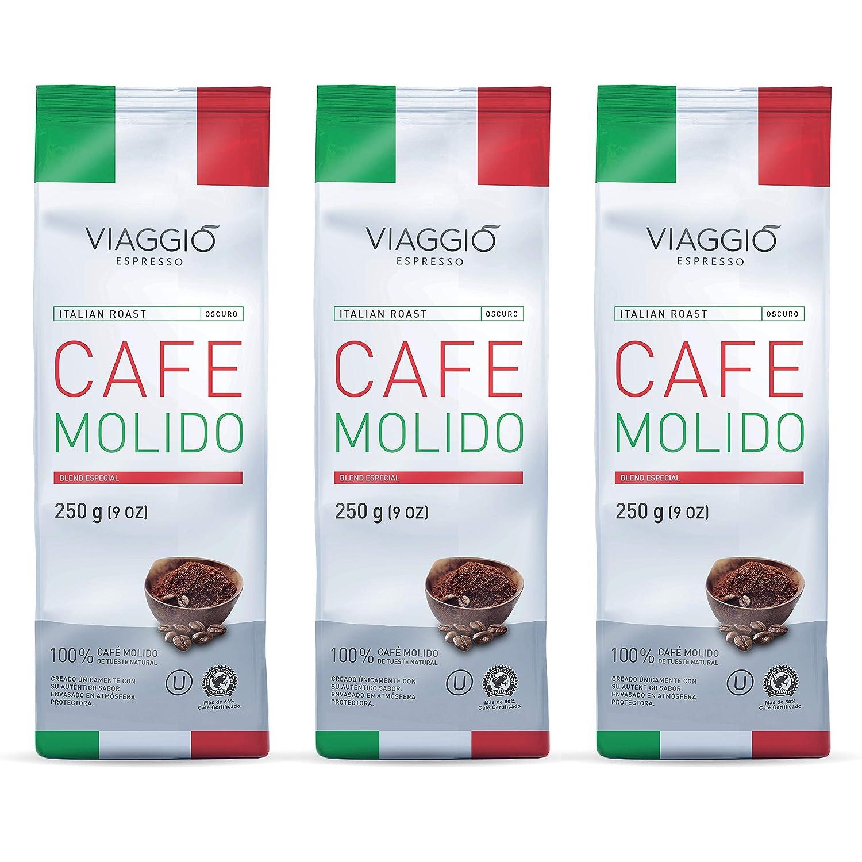 VIAGGIO ESPRESSO - 750 gr. Café molido (3 x 250 gr.) - ITALIAN ...