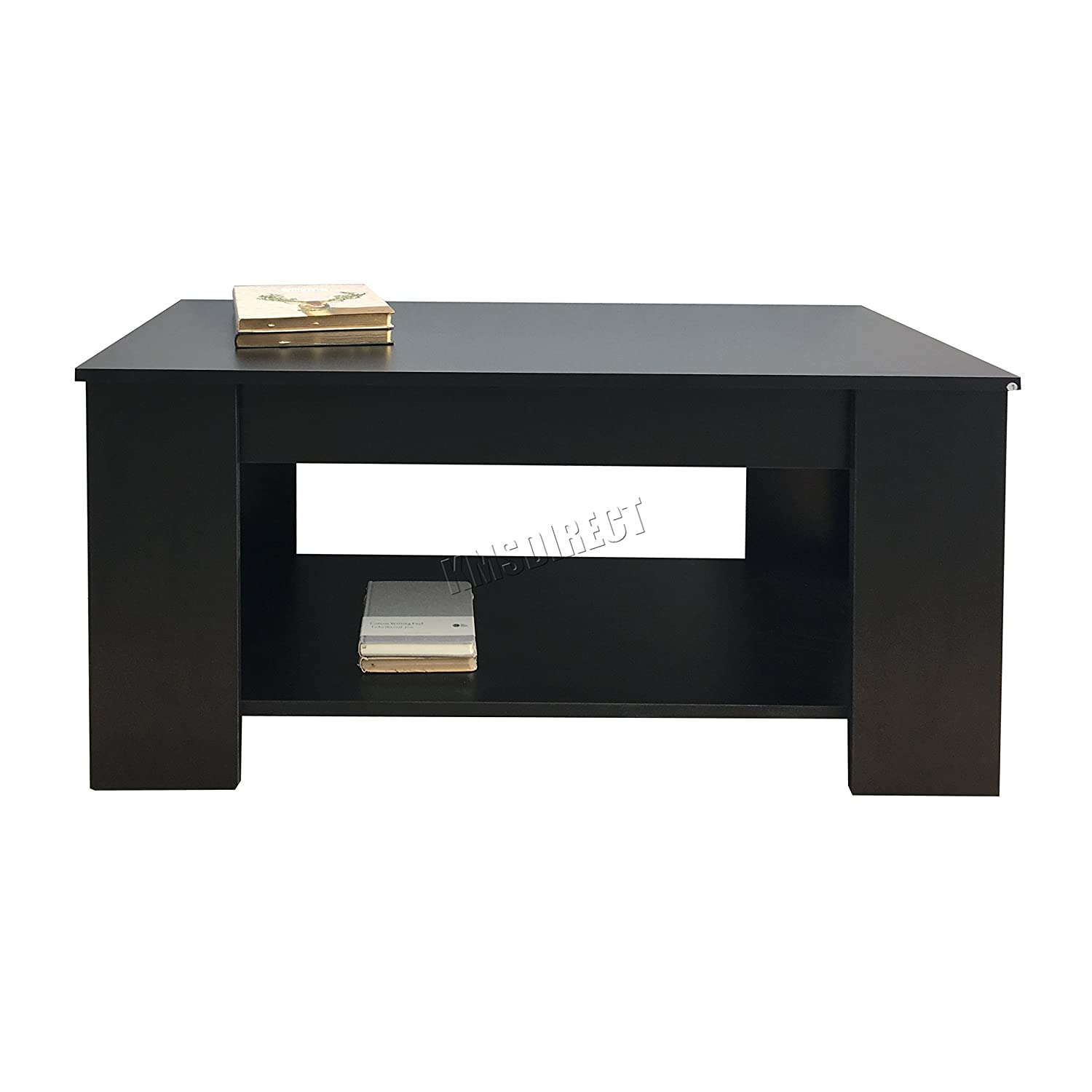 FoxHunter Lift Up Top coffee Table With Storage and Shelf Living