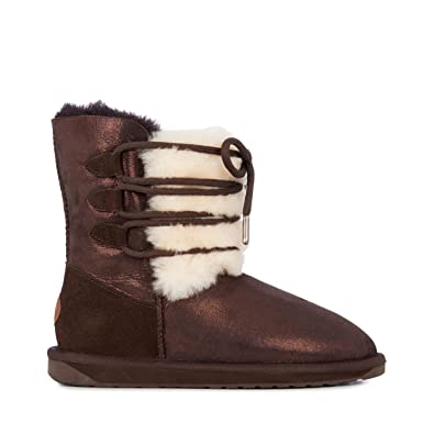 afec380879fd EMU Australia Womens Sorby Winter Real Sheepskin Boots Size 6
