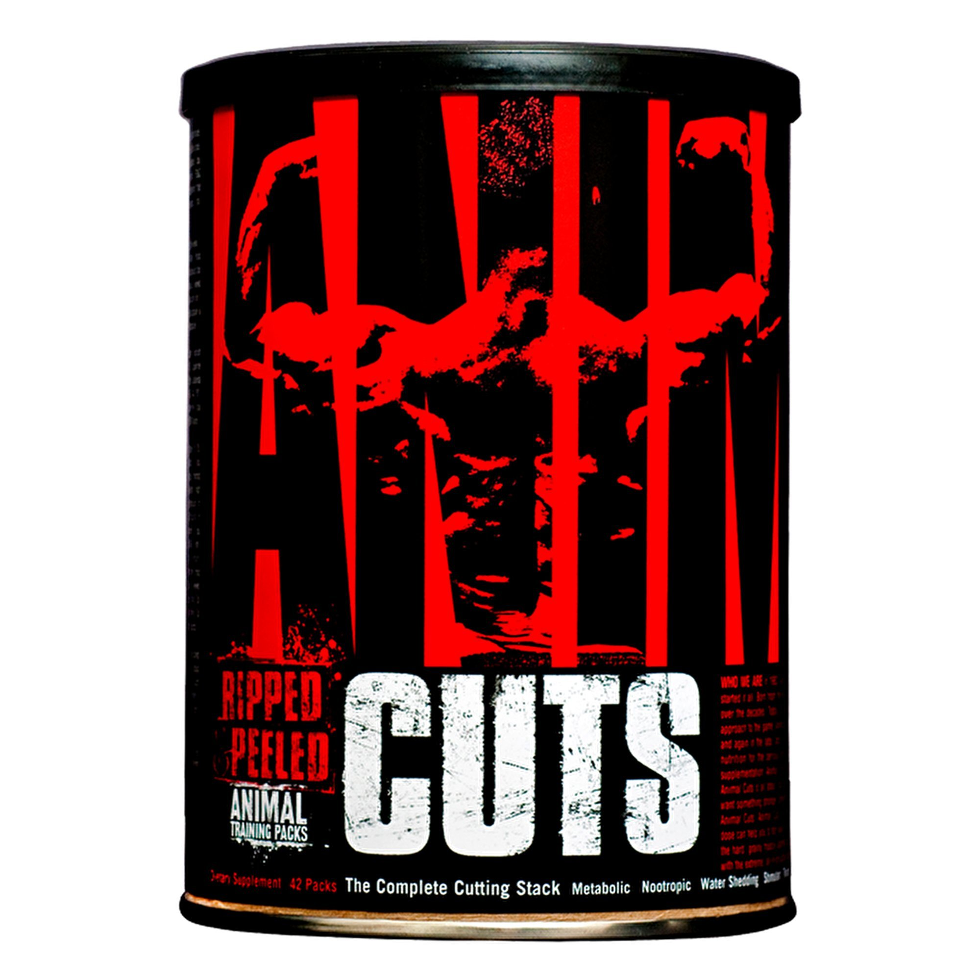 Animal Cuts - All-in-one Complete Fat Burner Supplement with Thermogenic and Metabolism Support - Energy Booster, Raspberry Ketones and Thyroid Complex - 42 Packs by Animal