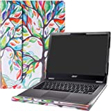 """Alapmk Protective Case Cover for 13.3"""" ACER CHROMEBOOK Spin 13 CP713-1WN & CHROMEBOOK 13 CB713-1W Series Laptop [Warning:Not fit Acer Chromebook R 13 CB5-312T],Love Tree"""