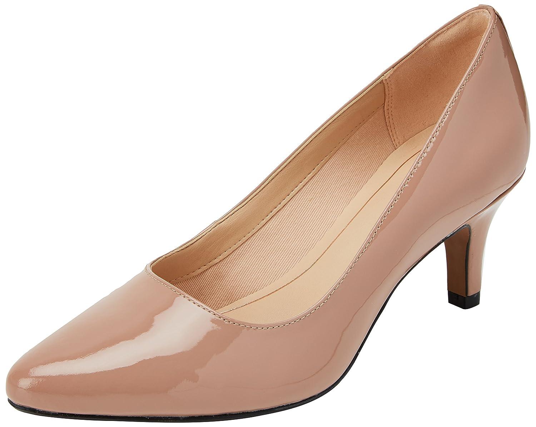 Clarks Isidora Faye, Zapatos de Tacón para Mujer 37 EU|Beige (Nude Patent -)