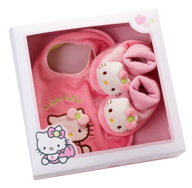 Coffret cadeau hello kitty chaussons   bavoir: amazon.fr: bébés ...
