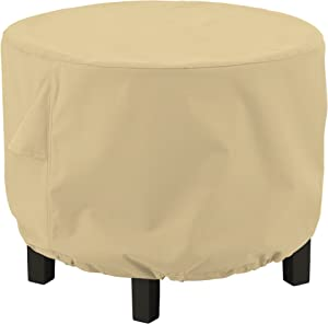 Classic Accessories Terrazzo Water-Resistant 36 Inch Round Ottoman/Coffee Table Cover
