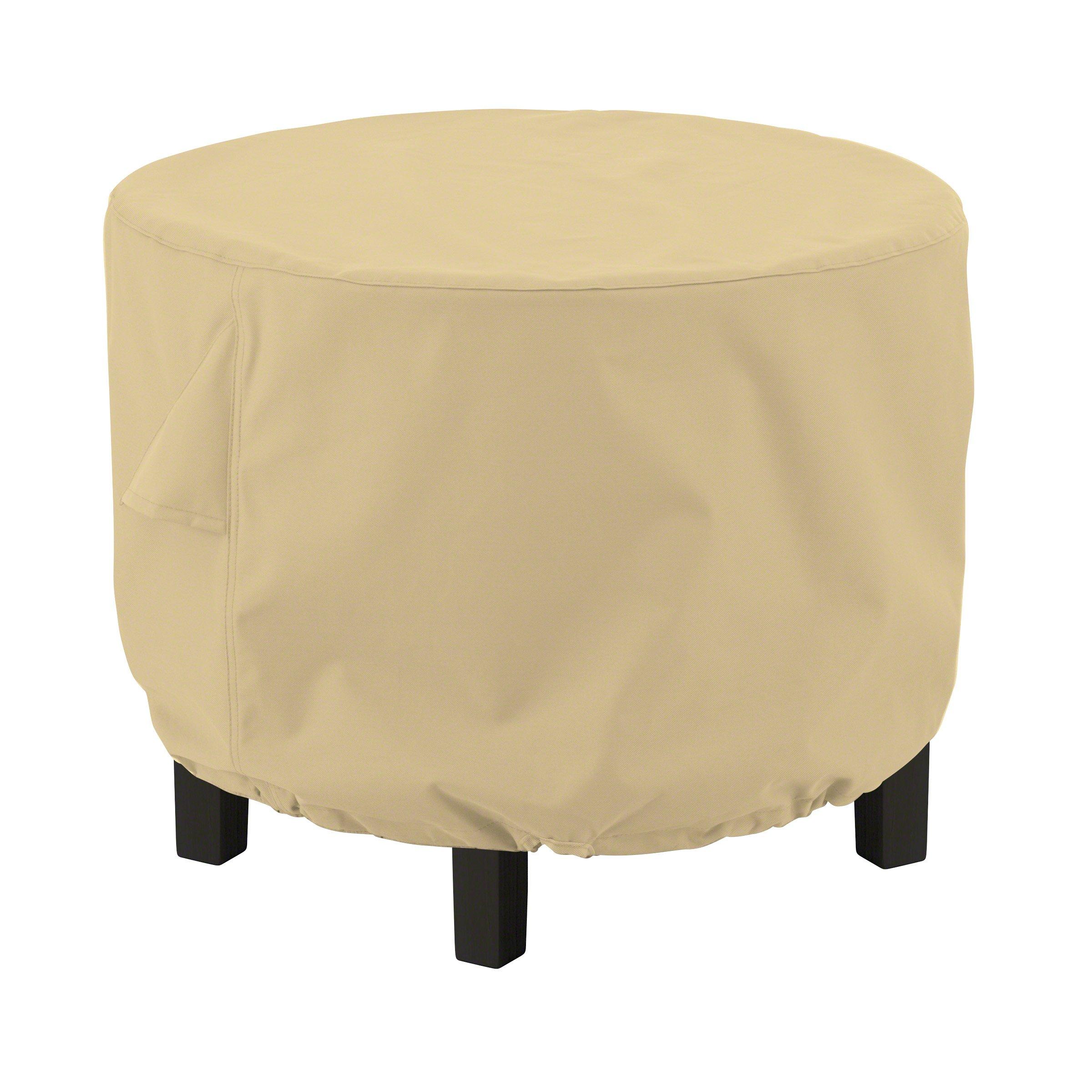 Classic Accessories 55-911-032001-EC Terrazzo Round Ottoman/Coffee Table Cover, Medium