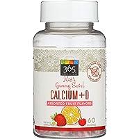 365 Everyday Value, Kids Gummy Swirls Calcium + D, Assorted Fruit Flavors, 60 ct