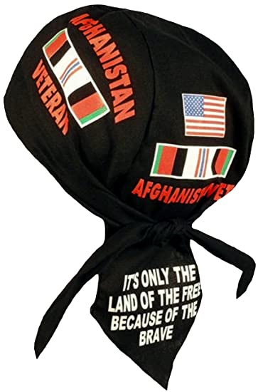 Freedom  Do Red White Blue Cap Head Wrap Du Rag Biker Doo Hat Skull Hat Bandana
