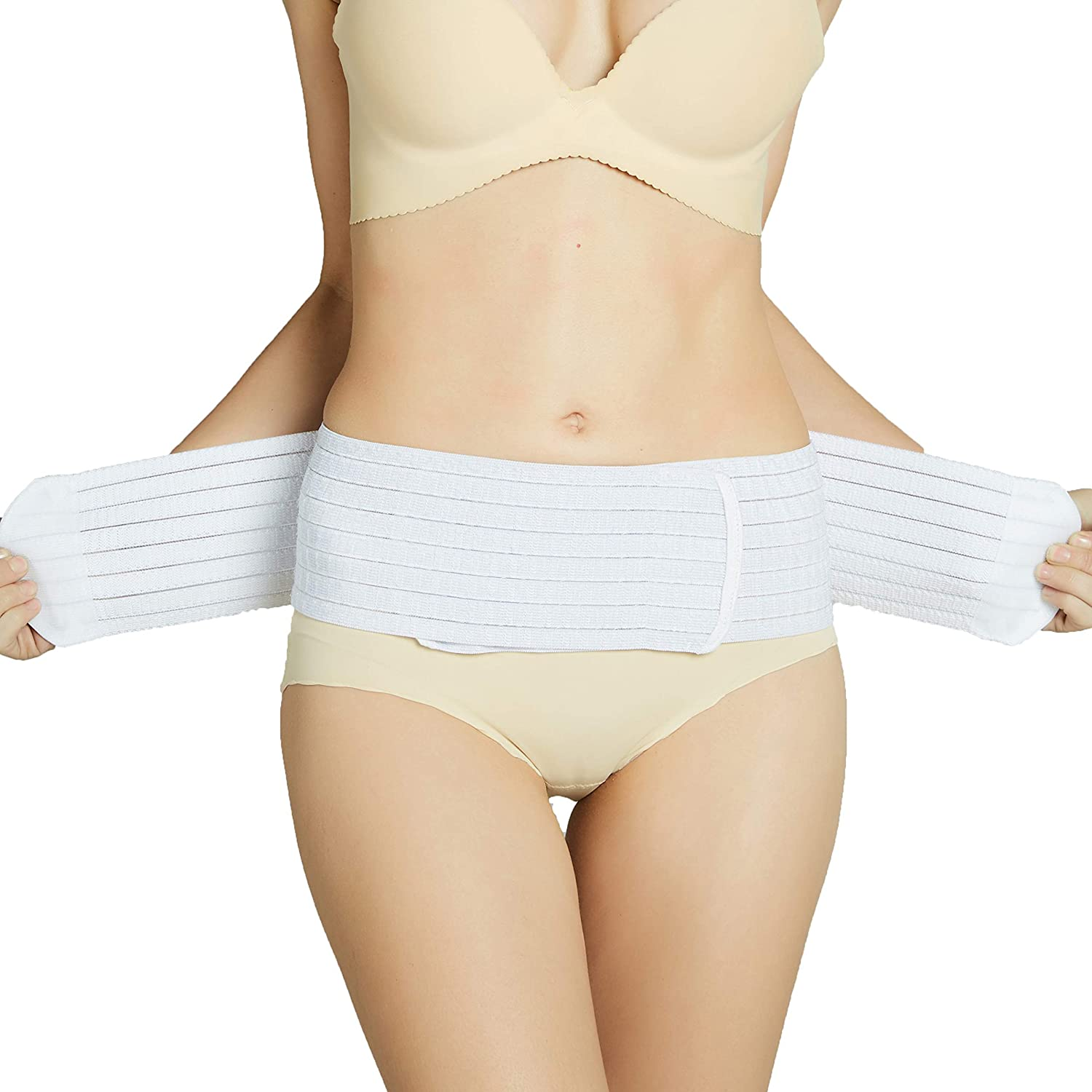 Neotech Care 3-in-1 Maternity Pregnancy Support White XL Size Postpartum Belly Wrap /& Pelvis Belt//Brace//Band Breathable Girdle
