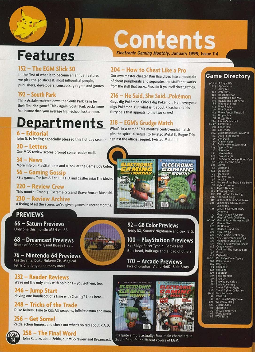 ELECTRONIC GAMING MONTHLY #114 South Park Hideo Kojima 1