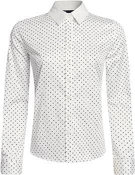 oodji Collection Mujer Camisa Estampada Entallada, Marfil, ES 36 ...