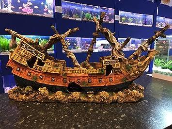 Mezzaluna Gifts Xxl Eagle Pirate Ship Shipwreck Ruin Very Large