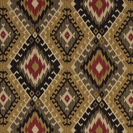 Amazon.com: Navajo negro, gris, rojo, amarillo étnico Ikat ...