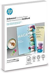 HP Brochure Paper | Matte | 8.5x11 | 50 Sheets, Brochure 150gsm 8.5x11 Laser Matte 50 Sheets (4WN06A)