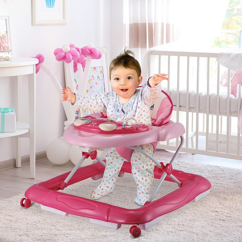 HOMCOM Andador para Bebés Plegable con Freno Andador Bebé ...