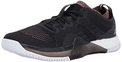 huge selection of 806a2 38588 adidas Womens Crazytrain Elite W Cross Trainer BlackTECH SilverTactile  Rose 5 Medium