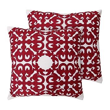 Amazon.com: Deconovo Funda de almohada decorativa de algodón ...