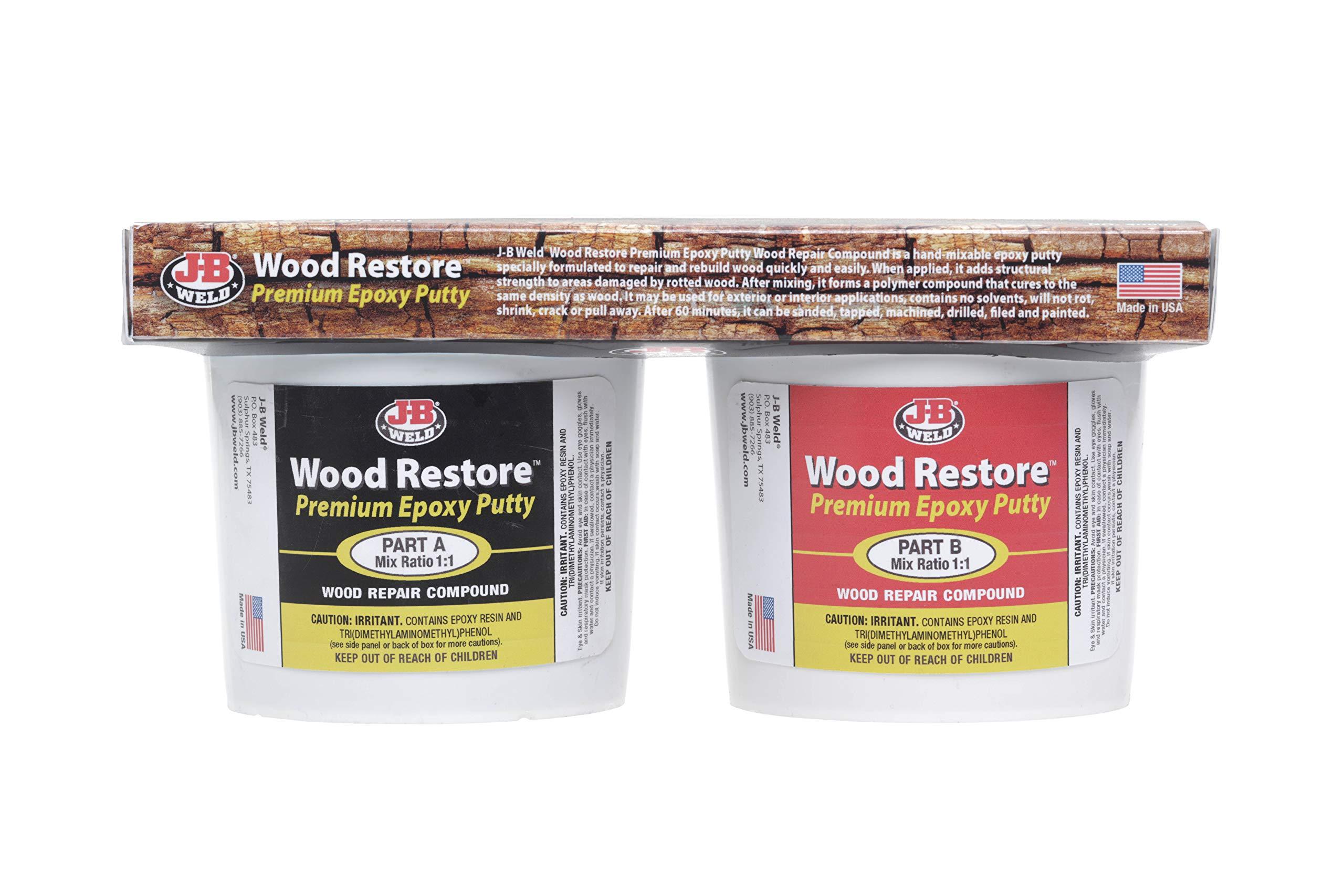 J-B Weld 40007 Wood Restore Premium Epoxy Putty Kit - 64 oz