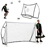 クイックプレイ キックスターコンボ ミニサッカーゴール兼リバウンダー 組み立て式ゴール 8KC