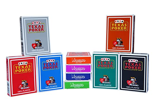 Modiano Pack of 10 Poker Playing Cards-All Colours