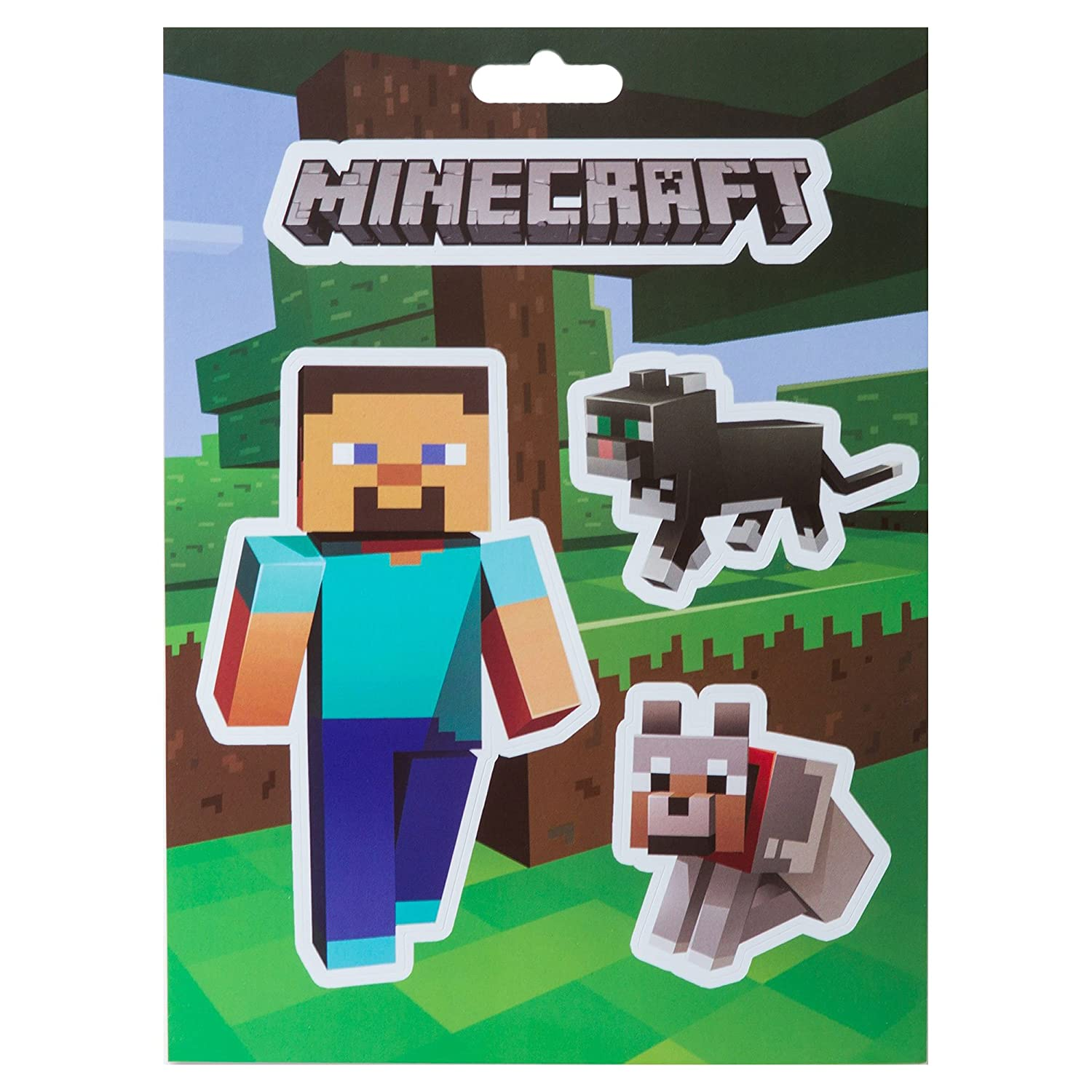 17 Stickers SG/_B00TM5VDGE/_US JINX Minecraft Sticker Party Pack Steve Pets, Baby Animals, Mob Nether, Mob Caves