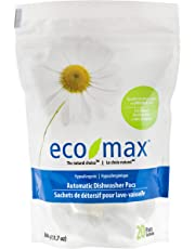 Eco-Max Hypoallergenic Automatic Dishwasher Pacs 360 g, Scent Free