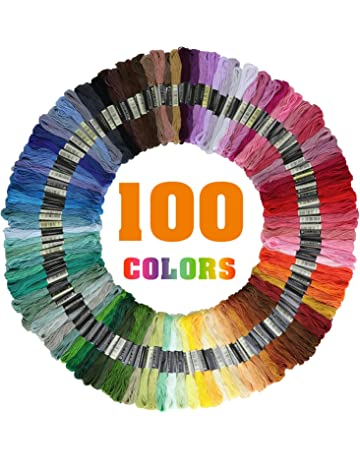 Cozywind Punto Croce Kit 100 Colori Matassine Punto Croce Ricamo Set per Principianti Fai da Te Cucitura a Croce Usato per Ricamo Kit Two