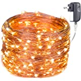 Extra Long 100foot 300led Starry String Lights Warm White on a Flexible Copper Wire, 100foot Starry Lights for Indoor, Outdoor, Decorative , Patio, Wedding, Garden, Room ¡