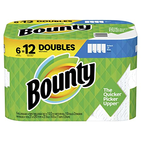 Amazon.com: Bounty - Toallas de papel (6 rollos): Home ...