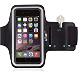 Ailun Phone Armband Compatible iPhone 6/6s Plus, Feartured with Sport Scratch-Resistant Material,Slim Lightweight,Dual Arm-Size Slots,Sweat Resistant&Key Pocket,with Headphone Ports[Black]