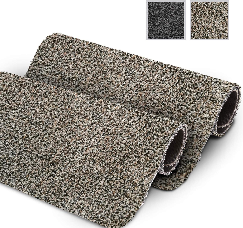 GadHome Felpudo Absorbente, Granite 40 cm x 60 cm | Alfombrilla Antideslizante para Interior y Exterior | Alfombra de Puerta de Algodón Suave, Lavable y de Secado Rápido