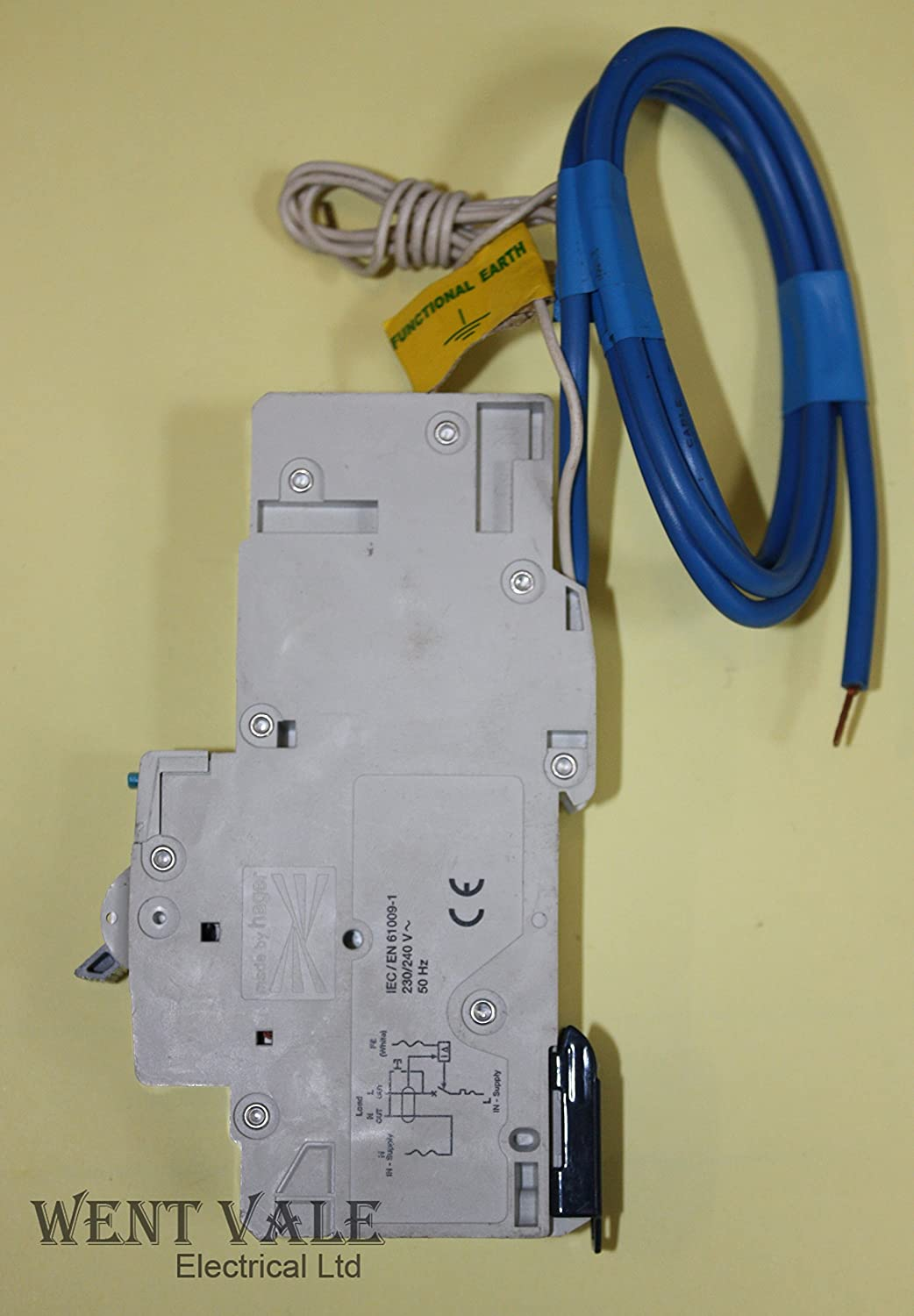 Hager Adb116 Ac Class Commercial And Industrial Electronic Rcbo 1 Wiring Pole Module