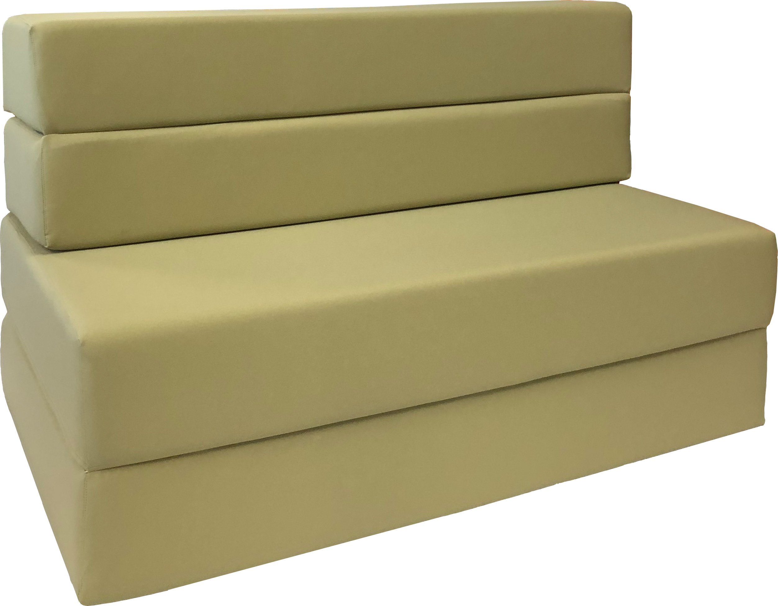 D&D Futon Furniture Folding Foam Mattress, Sofa Chair Bed, Guest Beds (Twin Size, Tan) by D&D Futon Furniture