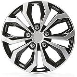 Unitec 75569 Daytona 16-inch Wheel Trims-Black / Silver, number 4