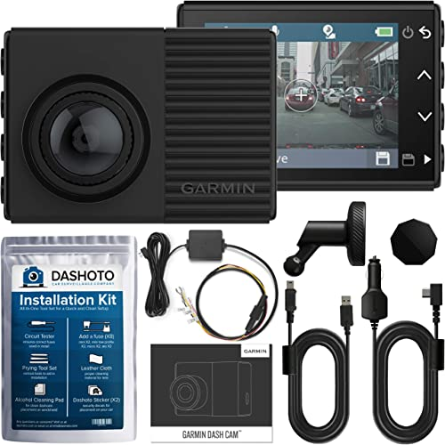 Garmin Dash Cam 66W, 1440P Ultra-Wide HDR Recording, 180 Degree Viewing Angle, WiFi, GPS and Voice Control with Parking Mode Cable and Installation Kit Included New 2020