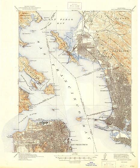 Amazon.com: YellowMaps San Francisco CA topo map, 1:62500 scale, 15 ...