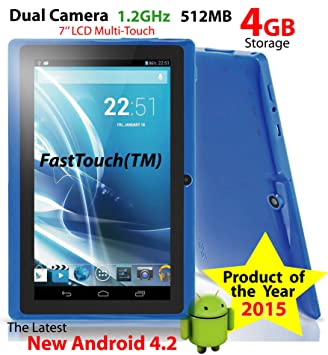 Amazon com : FastTouch(TM) White 7 Inch A13 GOOGLE Android 4 2
