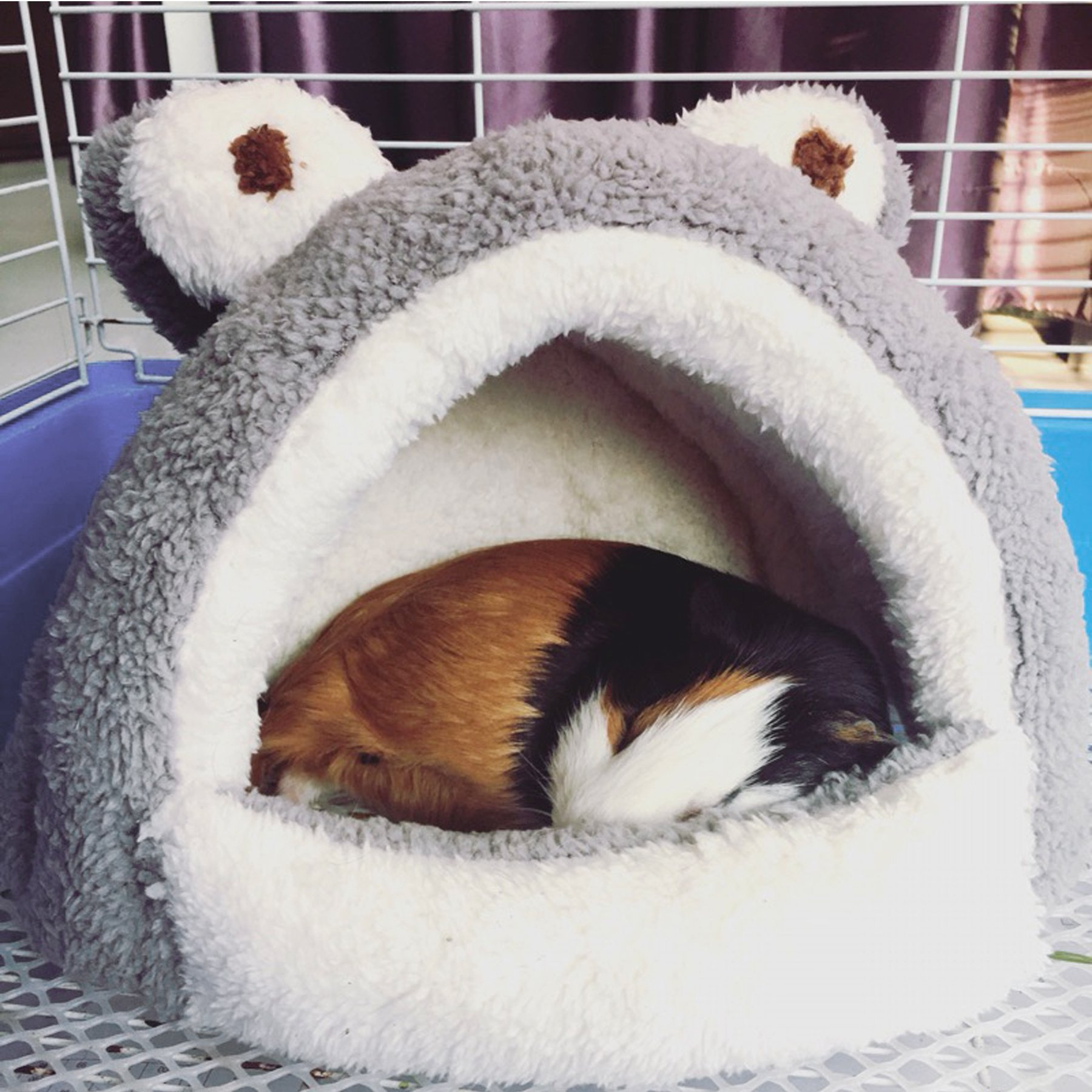 Alfie Pet by Petoga Couture - Tobin Sleeping Cave Bed for Small Animals like Dwarf Hamster and Mouse - Color: Grey by Alfie (Image #9)