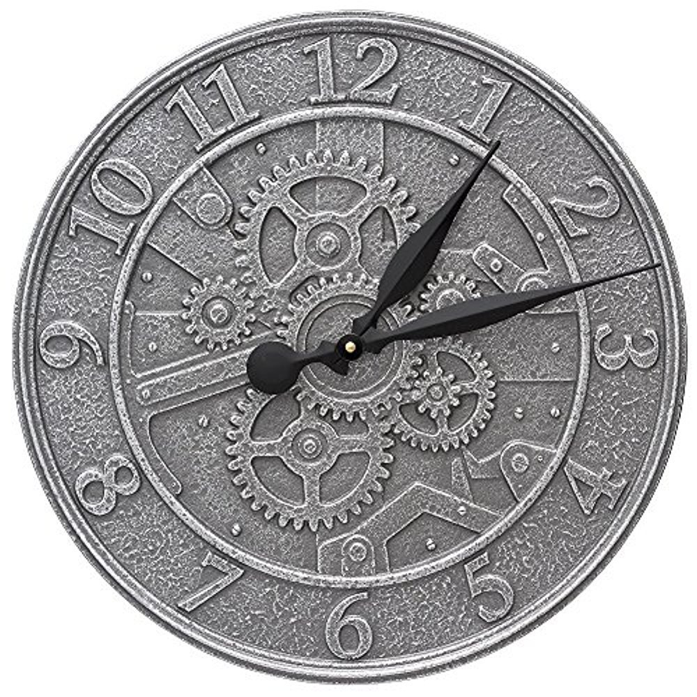 Gear 16-in Indoor Outdoor Wall Clock - 02073