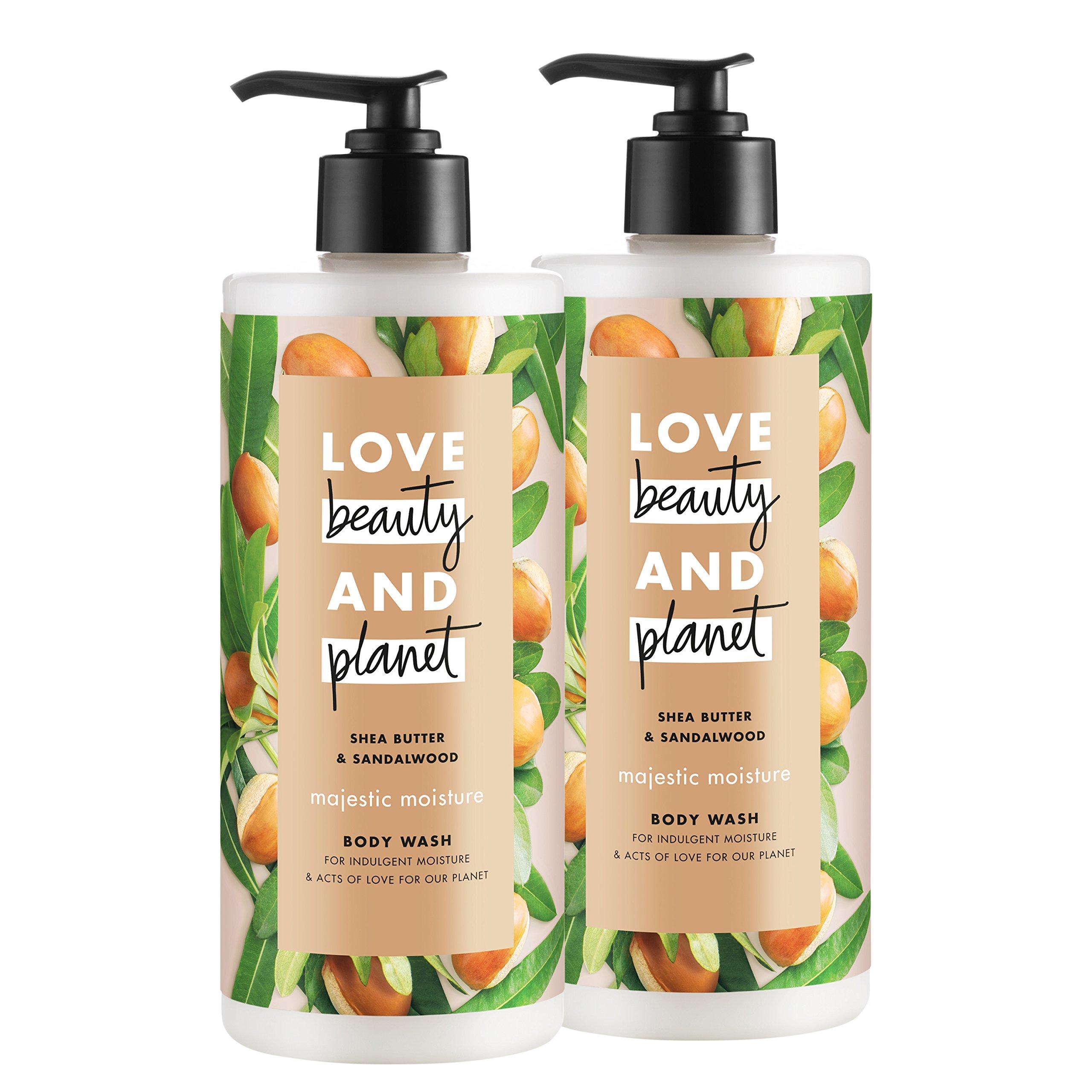 Love Beauty And Planet Majestic Moisture Body Wash, Shea Butter & Sandalwood, 16 oz, 2 ct