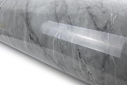 Granite Look Marble Effect Film Vinyl Self Adhesive Peel-stick Counter Top  (Deep Grey Marble(6 5ft))