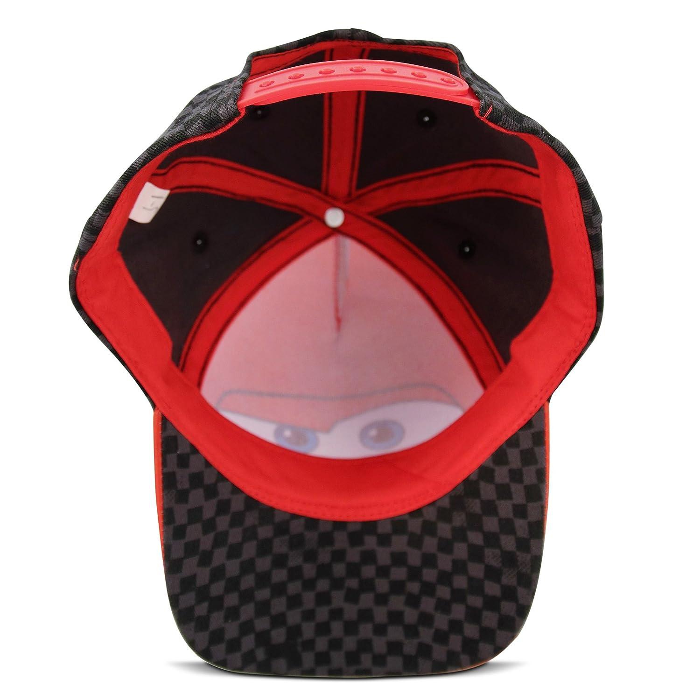 c1680f5fc649 ... Age Disney Little Boys Cars Lightning McQueen Character Cotton Baseball  Cap, Red/Black, Age
