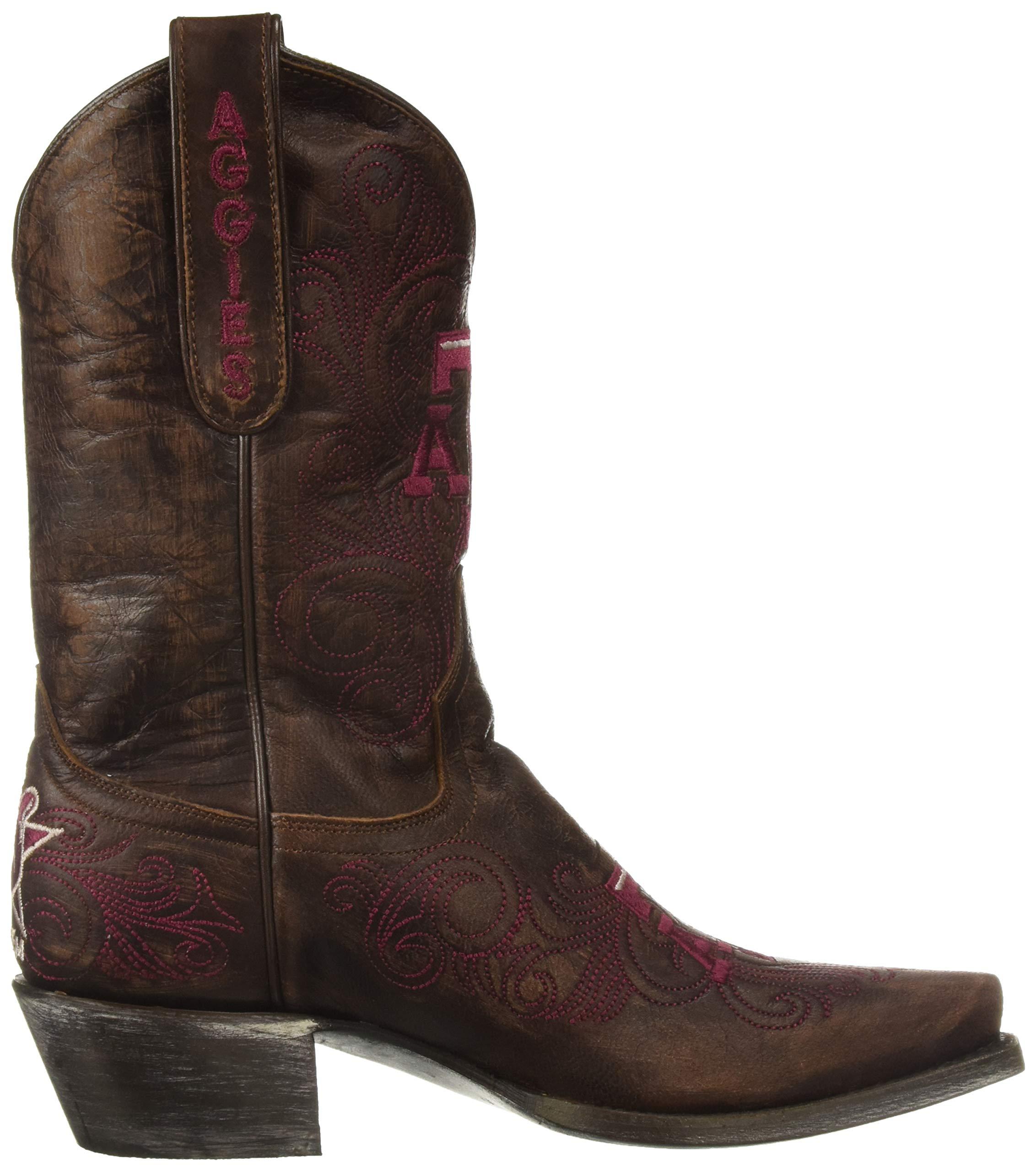 NCAA-Texas-A-amp-M-Aggies-Women-039-s-10-Inch-Gameday-Boot-Choose-SZ-color miniature 8