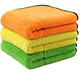 Laconile 3 Pack Microfibre Car Cleaning Cloths Microfiber Soft Ultra-Thick Fast Drying Super Absorbent Towels 3-Pack ; 15 x 17.7 inch