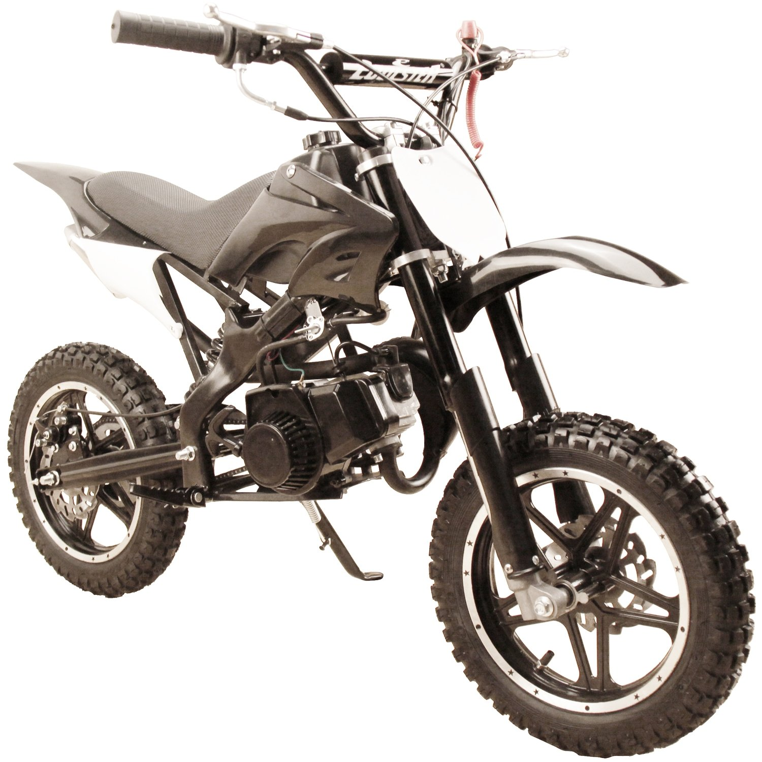 49cc 50cc High Performance Black 2-Stroke Gas Motorized Mini Dirt Pit Bike by Flying Horse