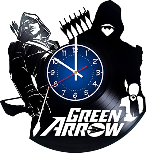 Green Arrow 12 inches / 30 cm Vinyl Record Wall Clock