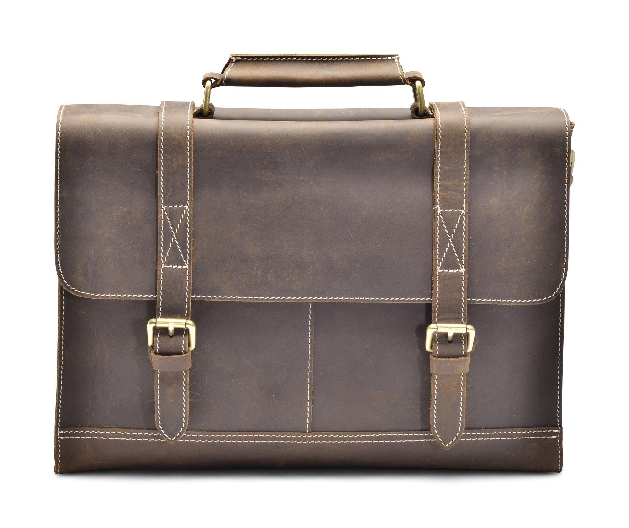 Hølssen Satchel Briefcase Messenger 13'' Laptop Genuine Leather Bag