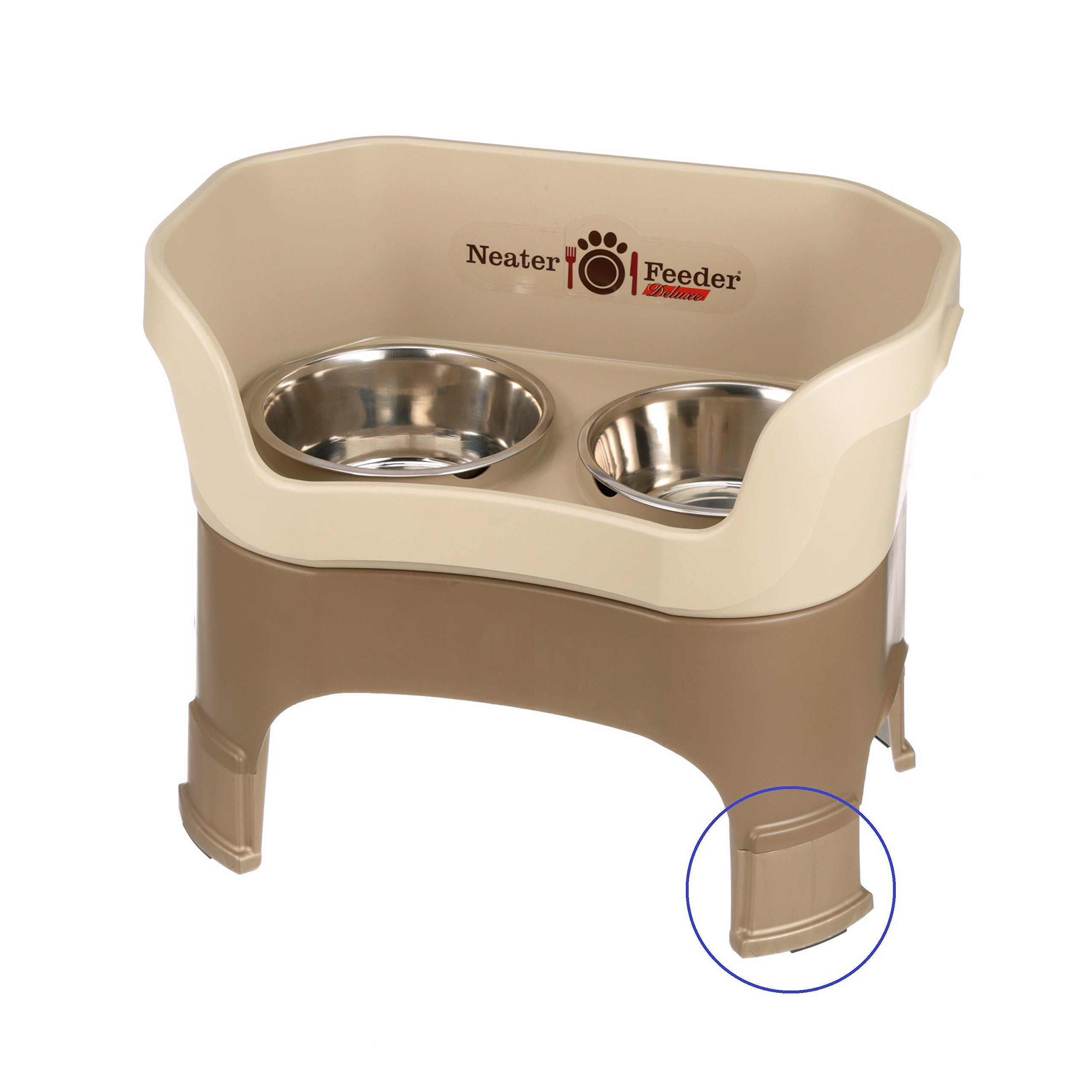 Neater Feeder Deluxe with Leg Extensions (Large, Cappuccino)