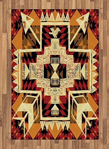 Amazon Ambesonne Arrow Area Rug Native American Inspired Retro Interesting Aztec Pattern