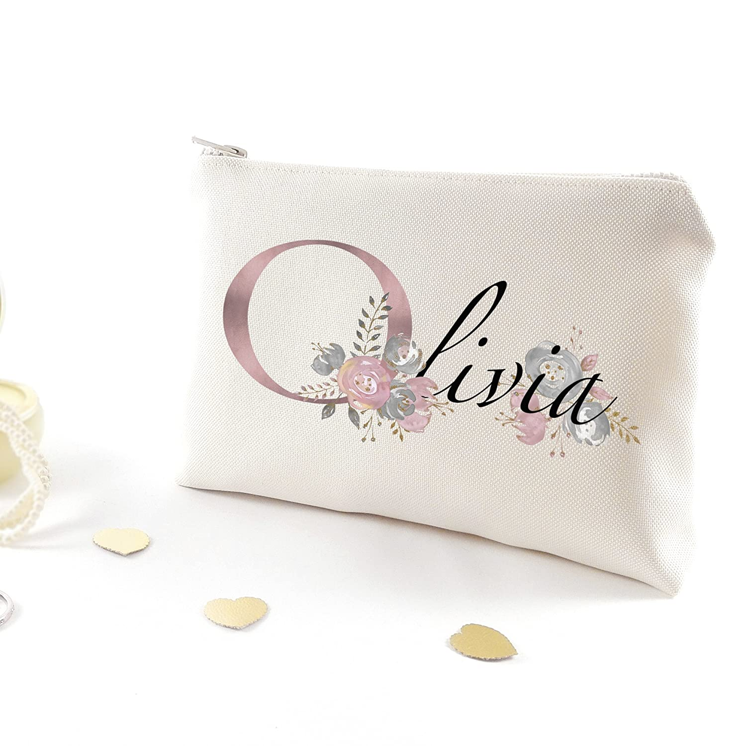Maid of honor gift - Personalized bridesmaid cosmetic bag