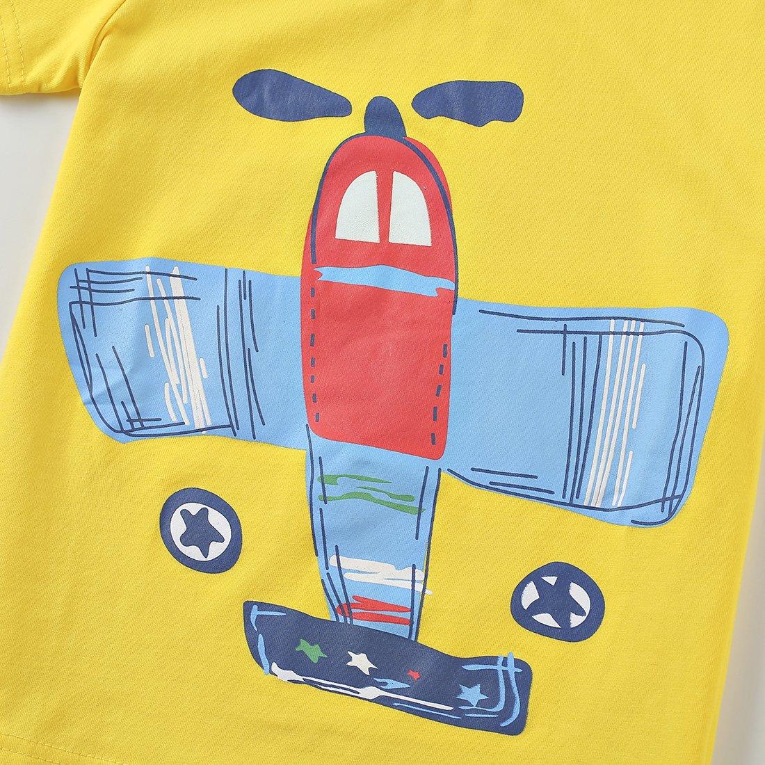 408b35b6a51b ... ChicNChic Baby Boys Short Sleeve T-Shirts Shorts Set 2pcs Cartoon Plane  Summer Outfits Clothing ...